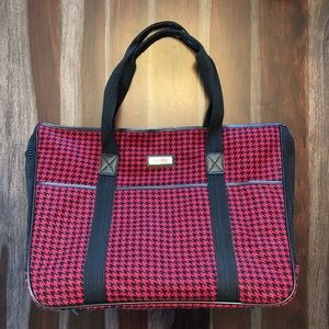 Sherpa dog carrier bag houndstooth red black f8f25b70df